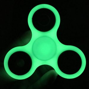 fidget tri spinner hand spinner Luminous Fluorescent Light, Glow In The Dark 1