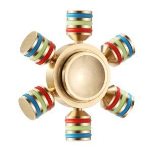 6 Sided Metallic Fidget Spinner