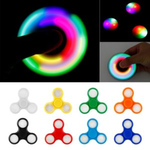 LED Light Fidget Spinner with Switch Plastic EDC Hand Spinner